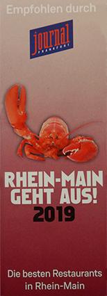 Rhein-Main Geht aus - Restaurant Auszeichnung 2019